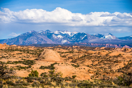 colorado rockies: canyon badlands and colorado rockies lanadscape Stock Photo