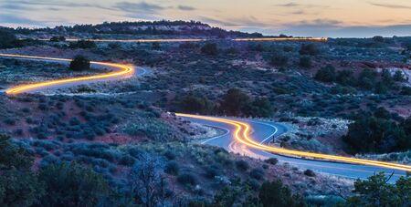 canyonlands: evening drive at Canyonlands National park Utah Stock Photo
