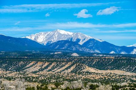 views of the mountains: colorado roky mountains vista views Stock Photo