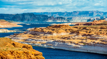 scenary: Lake Powell the second largest man-made lake in the United States