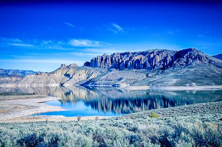 mesa: blue mesa reservoir in gunnison national forest colorado Stock Photo