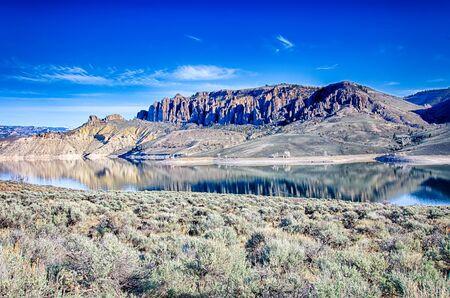 blue mesa reservoir in gunnison national forest colorado Stock Photo