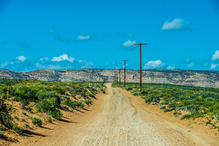 navajo land: landscape scenes near lake powell and surrounding canyons Stock Photo