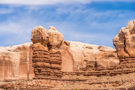 hoodoo: hoodoo rock formations at utah national park mountains Stock Photo