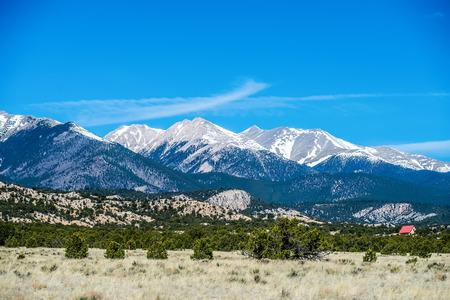 fairplay: colorado roky mountains vista views Stock Photo