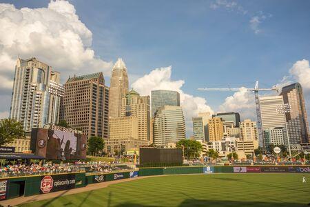 ballpark: charlotte north carolina city skyline from bbt ballpark Editorial