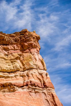 arizona scenery: arizona state rest area scenery off interstate 40 Stock Photo