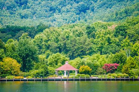 north carolina: scenery around lake lure north carolina