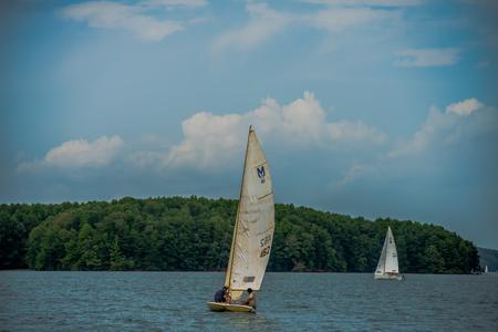 sail boat: sail boat on large lake