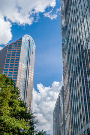 day time: charlotte nc skyline and street scenes during day time Stock Photo