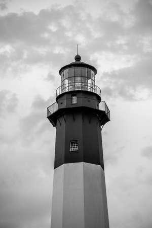 tybee island: Tybee Island Light with storm approaching Stock Photo