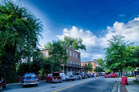 sc: August 22 York SC - vendors attractions and classic car show at annual summerfest 2015 Editorial