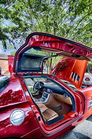 August 22 York SC - vendors attractions and classic car show at annual summerfest 2015 Editorial