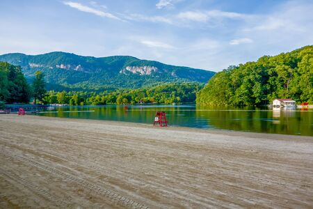 hickory nuts: chimney rock town and lake lure scenes