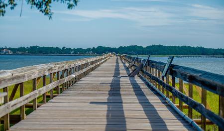 島、サウスカロライナ州の狩猟の周りの自然の風景 写真素材