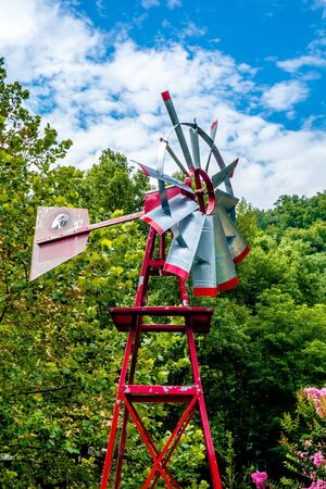Old antique Aermotor windmill used to pump water