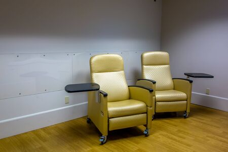 nuthouse: empty psych room with chairs Stock Photo