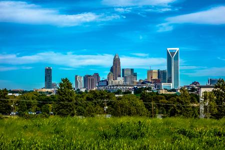 north carolina: charlotte north carolina city skyline