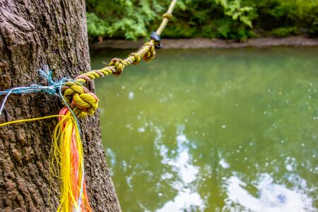 swing jump rope for jumping into river
