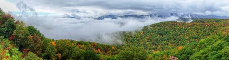 north ridge: Panorama of stretch of Blue Ridge Parkway near Asheville in Western North Carolina Stock Photo