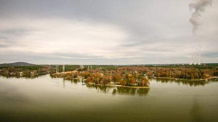 south carolina: aerialview over lake wylie south carolina