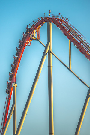 switchback: rollercoaster rides at an amusement park in south carolina
