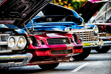 foreign cars classic car show in historic old york city south carolina