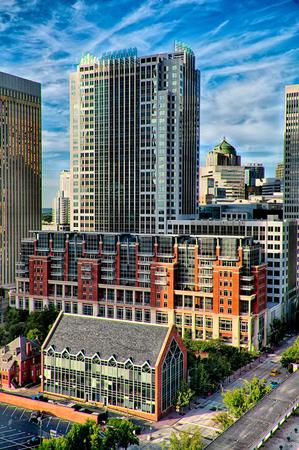 carolina: charlotte north carolina skyline cityscape