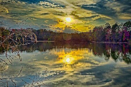natuur landschappen rond Lake Wylie South Carolina