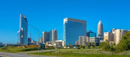 charlotte: charlotte north carolina cityscape of downtown
