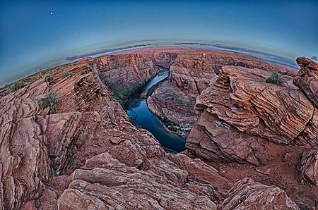 page arizona: Horshoe Bend of Colorado river near Page Arizona early morning
