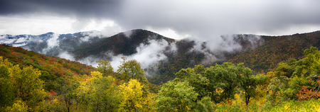wnc: Scenic Blue Ridge Parkway Appalachians Smoky Mountains autumn Landscape Stock Photo