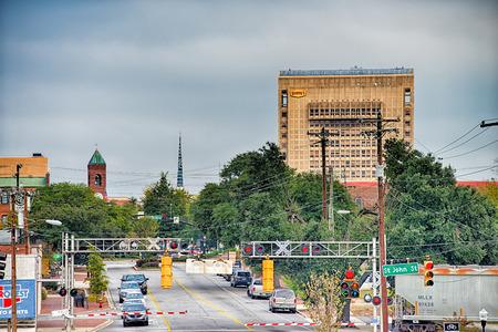 spartanburg south carolina city skyline and downtown surroundings