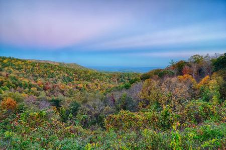 smoky mountains: Scenic Blue Ridge Parkway Appalachians Smoky Mountains autumn Landscape Stock Photo