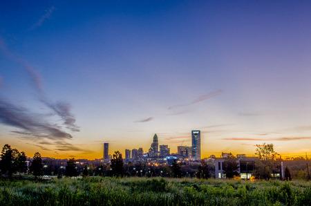 ag: charlotte north carolina city skyline in north carollina Stock Photo