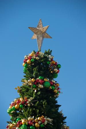 south carolina: rock hill south carolina downtown during christmas season
