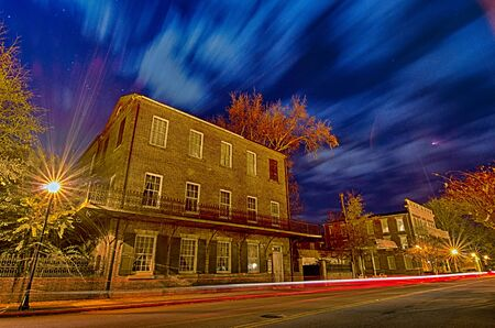 night scenes around olde york white rose city south carolina Stock Photo
