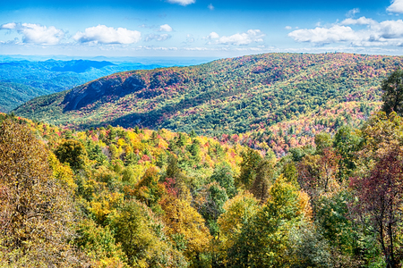Blue Ridge Parkway National Park Sunrise Scenic Mountains Autumn Landscape