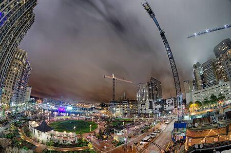 uptown: charlotte city skyline at night