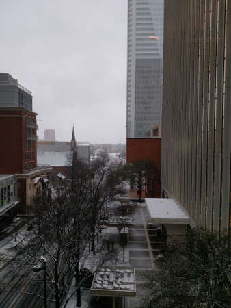 winter storm: winter storm passing through charlotte north carolina Stock Photo