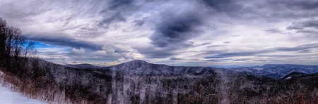 smoky: Dramatic Skies Great Smoky Mountains NC at sunset in winter