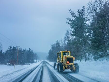 icy conditions: bad road conditions while driving in winter Editorial
