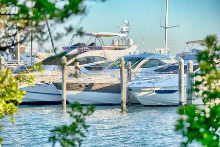 masts: Marina boat masts and reflections background on a sunny day