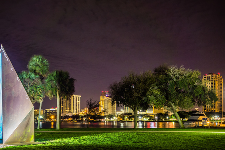 st  pete: st petersburg florida night scenes from park
