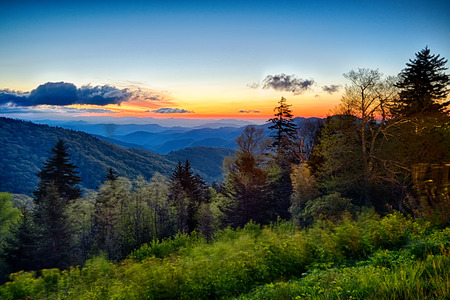 smoky mountains: Springtime at Scenic Blue Ridge Parkway Appalachians Smoky Mountains