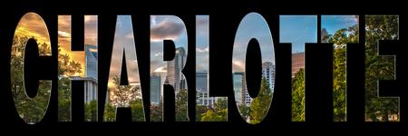 charlotte: skyline of charlotte city on north carolina Stock Photo