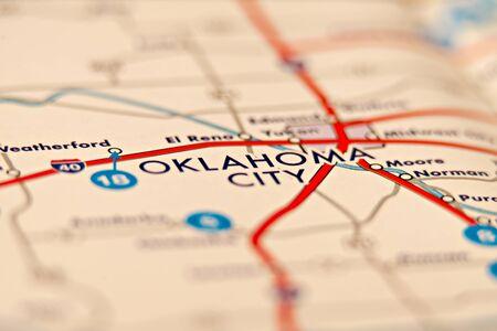 oklahoma city: oklahoma city area map Stock Photo