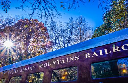railroad: train passenger car of great smoky mountains railroad