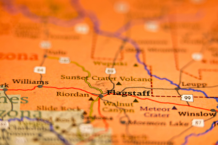 Flagstaff Arizona Area Map Stock Photo Picture And Royalty Free