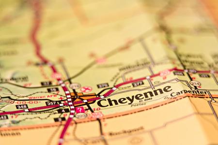 cheyenne wyoming area map